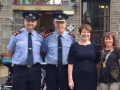 Deputy Mayor Liona O'Toole with Garda Commissioner Noirin O'Sullivan and Superintendent Dermot Mann at the Lucan Festival