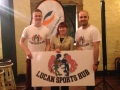 Deputy Mayor Liona O'Toole with the founders of Lucan Sports Hub