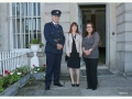Launch of Lucan Festival Cllr. Liona O'Toole with Superintendent Dermot Mann and Ester from Italian Embassy