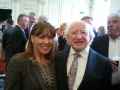 Deputy Mayor Liona O'Toole and President Higgins at National Day of Commemoration, Kilmainham Hospital