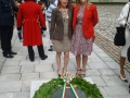 Deputy Mayor Liona O'Toole with Maria Copeland at National Day of Commemoration, Kilmainham Hospital