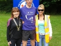 Deputy Mayor Liona O'Toole with Brian Furey the male winner of the Ramble Aid 5k/10k run in aid of the Irish Carer's Association