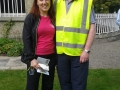 Deputy Mayor Liona O'Toole with Donal Walsh of South Dublin County Council at the Lucan Festival