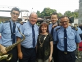 Deputy Mayor Liona O'Toole with Gardai from the Garda Band at the Lucan Festival