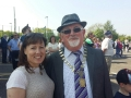 Cllr. Liona with Mayor Guss O'Connell at 1916 Commemoration event
