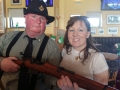 Cllr. Liona O'Toole with actor at the Lucan 1916 Commemoration event
