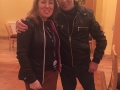 "Cllr. Liona O'Toole with legend Christy Dignam at Lucan Sarsfields fundraiser""Rock the Lock"""
