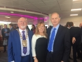 Cllr. Liona O'Toole with Mayor Guss O'Connell and Barry Kennedy CEO at the launch of company Irish Manufacturing Research