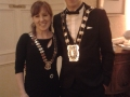 Deputy Mayor Liona O'Toole with Mayor Fintan Warfield