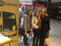 Cllr. Liona O'Toole with residents and Lucan Dublin Bus roadshow