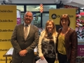Cllr. Liona O'Toole with Dublin Bus area Manager and Lucan resident at Dublin Bus Road show in Lucan Shopping Centre
