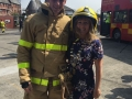 Deputy Mayor Liona O'Toole with passed out Fire Officer at Dublin Fire Brigade passing out ceremony
