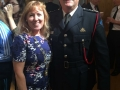 Deputy Mayor Liona O'Toole with Assistant Chief Fire Officer Michael O'Reilly