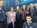 Cllr. Liona O'Toole with Lucan Scout Troop at Lucan Festival