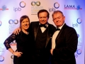 Liona O'Toole at All Ireland Community & Council Awards with Paul Corboy representing Lucan's Operation Transformation
