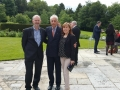 "Liona O'Toole with Italian Embassador and Barry Kennedy at Italian Ambassadors Residence on ""Italian Day"""